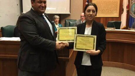 Diploma del Ayuntamiento y de la Fundacion a Carmel